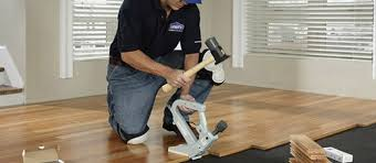 a nail gun to install hardwood floor