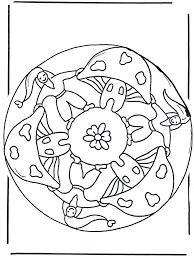 Mandala Met Paddestoel 2 Kleurplaten Herfst