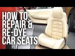 repair and re dye leather car seats