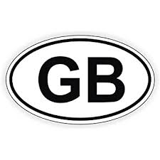 Amazon Com Great Britain Gb Euro Union Jack Oval Vinyl Car Bumper Window Sticker 5 X 3 Automotive