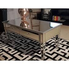 venetian mirrored coffee table vintage