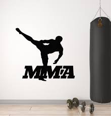 Vinyl Wall Decal Mixed Martial Arts Fighting Fighter Mma Sports Gym St Wallstickers4you