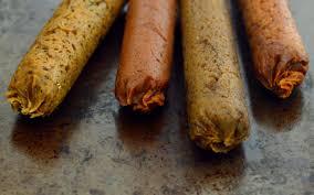 seitan sausages four ways vegan one