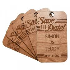 gift tag wooden save the date