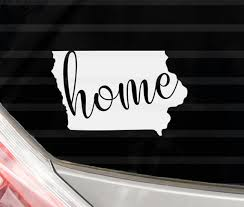 Custom Iowa Home Vinyl Decal Iowa State Yeti Cup Decal Water Etsy