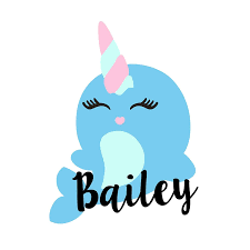 Amazon Com Custom Narwhal With Name Decal Personalized Vinyl Unicorn Sticker For Yeti Cup Tumbler Laptop Car Window Accessories For Women You Choose Size And Name Color Handmade