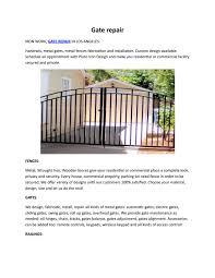 Gate Repair By Pluto Iron Design Issuu