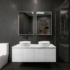 24x36 dimmable led lit bathroom mirror