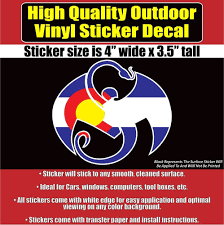 Strange Music Logo Decal Colorado Flag Design 4 Outdoor Quality Colorado S Print Stickers Strange Music Bumper Stickers