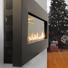 fire ribbon direct vent slim fireplace