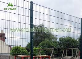 Anti Rust 656 Welded Mesh Double Wire Fence Waterproof With 60 60 Square Post