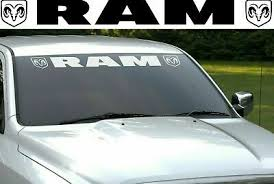 Ram Logo Front Windshield New Window Banner Decal Sticker Dodge Dodge Ram Car Truck Graphics Decals Auto Parts And Vehicles Tamerindsa Com Ar