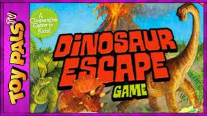 Dinosaur Escape Kids Board Game Cooperative Dinosaur Games For Kids Children Youtube