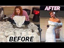 diapers into a wedding gown
