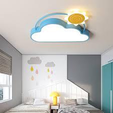 Cloud Light Fixture Creative Led Bedroom Light For Girls Room Sun Airplane Kids Boy Ceiling Lamp Child Children S Room Led Light Ceiling Lights Aliexpress