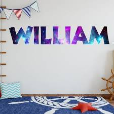 Custom Name Decal Galaxy Room Decor Personalized Name Wall Etsy