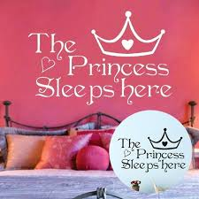 The Princess Sleeps Here Wall Sticker Kids Girls Room Removable Bedroom Diy Decor Pvc Decals Wish