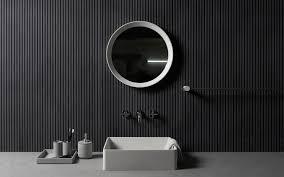 تحميل خلفيات حمام 4k تصميم أسود شقة حديثة الداخلية الفكرة