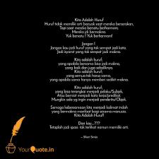 best kitaadalahhuruf quotes status shayari poetry thoughts