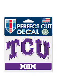 Tcu Horned Frogs Mom Perfect Cut Auto Decal Purple 5713441