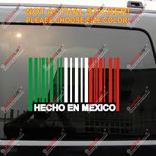 Made In Mexico Hecho En Mexico Flag Barcode Decal Sticker Car Vinyl No Bkgrd Car Stickers Aliexpress