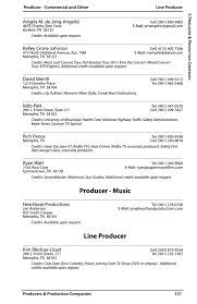Memphis & Shelby County Film/TV Commission Production Directory ...