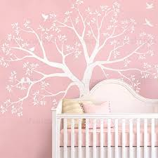 Amazon Com Simple Shapes Staircase Family Tree Wall Decal Tree Wall Decal White Small Size 92w X 88h Inch Home Kitchen