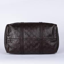 gucci guccissima boston dark brown bag