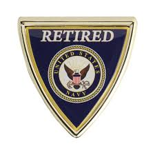 Mitchell Profitt Usn Retired Chrome Car Decal Navy Veterans Military Shop Your Navy Exchange Official Site