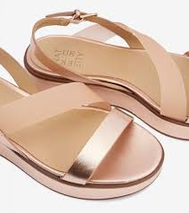 charlize rose gold leather sandals