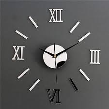 100 Brand New And High Quality Description Material Acrylic Plastic Colour Silver Black Golden Red Th Mirror Wall Clock Wall Clock Sticker Mirror Design Wall
