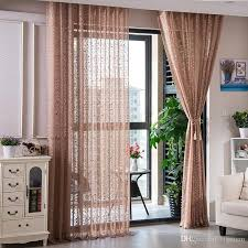 2020 Floral Lace Curtain Sheer Pastoral Embroidery Tulle Curtains For Living Room Bedroom Sheer Window Tulle Curtain For Kids Room From Bigmum 8 52 Dhgate Com