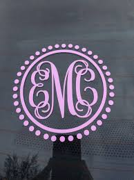 Car Monogram Decal Car Sticker Vine Monogram Car Decal Etsy Car Monogram Decal Monogram Car Stickers Monogram Decal