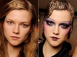 contrasting makeup mods models before