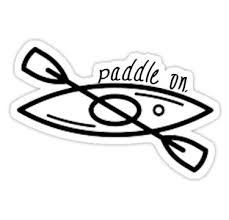 Show Your Love For Kayaking With This Simple Vector Design Paddle On Also Buy This Artwork On Stickers Appar Kayak Accessories Kayak Stickers Kayak Decals