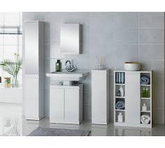 gloss console storage cabinet white
