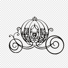 Black carrier logo, Cinderella Mickey Mouse Carriage Silhouette ...