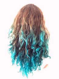 blue dip dye on brown hair find your