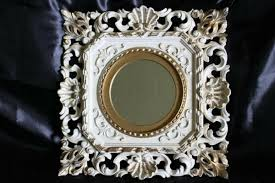 ivory gold mirror in baroque style