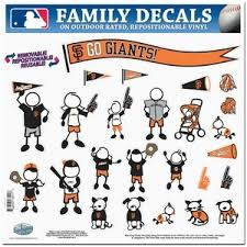 San Francisco Giants 11x11 Large Family Decal Set At Sticker Shoppe