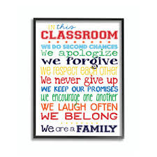 Stupell Industries Classroom Rules Colorful Alphabet Contemporary Kids Wall Decor By Shopladder