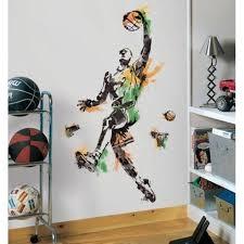 Basketball Player Mural Wall Decals Sports Ball Room Decor Stickers Walmart Com Walmart Com