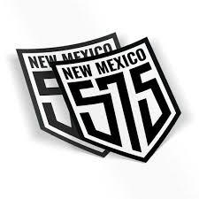 575 Two Sticker Set 5 X 6 Custom New Mexico Area Code Weatherproof Window Vinyl Sticker Decals For Car Or Laptop Spacedust Sticker Set Window Vinyl Vinyl Sticker