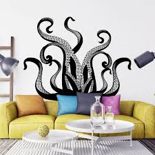 Kraken Octopus Tentacle Wall Decal Nautical Bedroom Decor Etsy