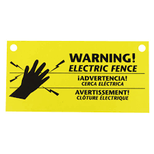 Zareba Electric Fence Warning Sign 3 Pack Ws3 The Home Depot