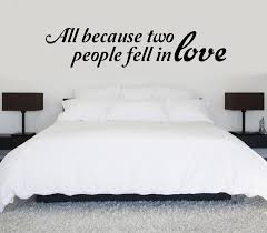 All Because Two People Fell In Love Vinyl Wall Decal Sold By Sticker This On Storenvy