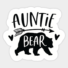 Auntie Bear Christmas Gift Auntie Bear Sticker Teepublic
