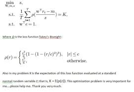 following optimization problem