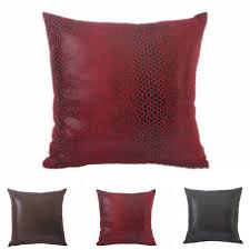 pillows cover cover faux leather
