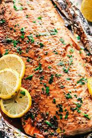 Garlic Brown Sugar Glazed Salmon (The ...